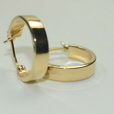 14k Small Wide Hoop Earrings