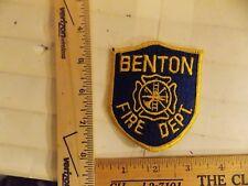 BENTON FIRE DEPT PATCH ARKANSAS IOWA IA (LOT A )