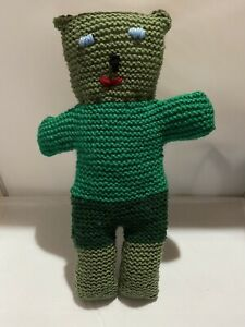 Hand Knitted Teddy Bear - Greens - NEW - I'm Beary Adorable