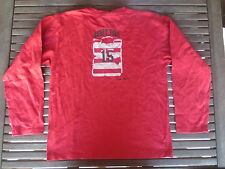Tee-shirt SERGE BLANCO Petit Quinze 15 rouge rugby polo manches longues 12 ans