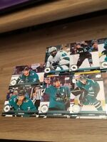 2017-18 UPPERDECK UD SERIES 1& SERIES 2 SAN JOSE SHARKS TEAM SET (12 CARDS)