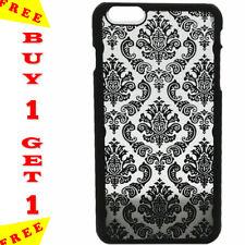 Élégant Henna Design 3D Fleur Collants Noir Case iPhone 6 S plus Acheter 1 obten...