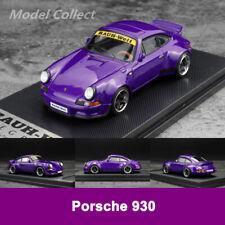Pre-Order Model Collect 1:64 Porsche RWB 930 Duck Tail Car Model Limited Purple