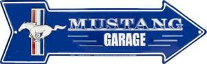 Gift Idea >Tin Sign Metal Signs>Ford Mustang Arrow>Man Cave Bar Shed Collectible