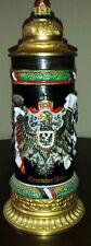 Meisterwerke beer stein rare1871 DEUTSCHES REICH 1918 Royale Eagle Crest