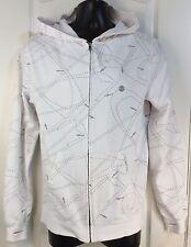 Element Mens Sz Small Lightweight Cotton Zip Hooded Pockets Skater Jacket Coat