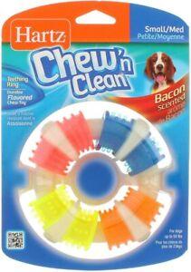 Hartz Chew N Clean Bacon Flavor Teething Ring Dog Toy