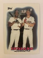 1988 Topps #789 Indians Leaders-Joe Carter & Cory Snyder