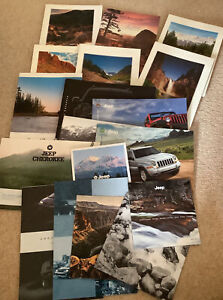 GARAGE FIND,CLEARANCE. 18 x JEEP BROCHURES.1990s & LATER.CHEROKEE ETC 99p Start