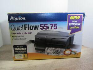 NEW Aqueon Quiet Flow Aquarium Power Filters - 55/75 Filter Tanks Up to 90 Gal.
