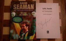 Ottime mani la mia autobiografia firmato David Seaman HB 2000 1st EDIZIONE STAMPA 1st