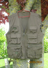 Gilet sans manches multi-poches, pêche, chasse, photographe, usage divers.