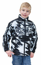 "Wulfsport stratos black kids ride jacket size 34"" motocross motorbike MX leisure"