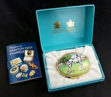 Halcyon Days Tiffany & Co Dalmatian Fire Dept. Trinket Box Oval Hinged Porcelain