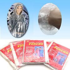 50x Disposable Ponchos Emergency Rain Coat Adult Raincoat Business Wholesale