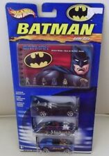 Special Limited Edition Hot Wheels  Batman Guide &Three Decorated Cars
