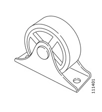 1x IKEA CASTER WHEEL FIXED 35 mm FOR BRIMNES DAYBED Steel GRAY Part #111401