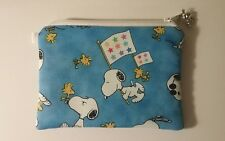 Snoopy and Woodstock  Handmade Change Coin Purse Gift Card Holder