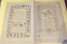 ANCIEN DOCUMENT L'ART , LA DÉCORATION ET L'ORNEMENT DES ÉTOFFES ET DES TISSUS