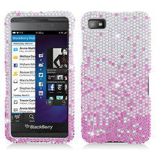 For BlackBerry Z10 Crystal Diamond BLING Hard Case Phone Cover Gradient Pink