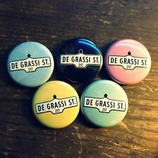 "5 x 1"" DEGRASSI ST BUTTONS pins badges junior high toronto street signs canada"