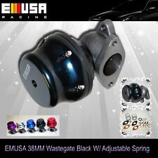 Emusa BLACK 38mm External Turbo  Adjustable Wastegate 2 bolts