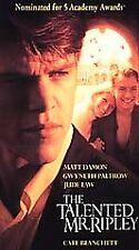 The Talented Mr. Ripley (Vhs, 2000) Matt Damon Gwyneth Paltrow Jude Law