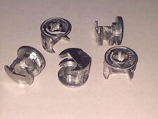 5 x FLAT PACK FURNITURE CAM LOCKS 15mm x 12mm - WARDROBES DRAWS SHELVES -