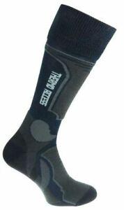 Ski Snowboard Winter Socks Blue Grey Racing Thermolite Antibacterial 3 sizes