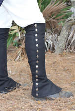 Black Wool Knee Gaiters - F&I, Rev War, War of 1812, Rendezvous, reenactment