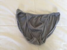 Vintage Jockey Life Men's Gray String Bikini Underwear Size Medium 100% Cotton