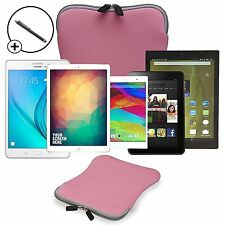 "9"" & 10"" Splashproof Neoprene Tablet Sleeve Case Cover Travel Pouch + Stylus Pen"