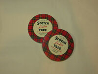 2 - Scotch Brand Locker TAPE TIN Frozen Food Packaging No. 174 Empty Collectible