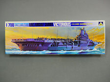 Aoshima 1/700 H.M.S Aircraft Carrier VICTORIOUS Water Line Model Ship Kit #d3