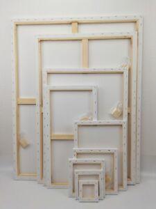 Leinwand auf Keilrahmen aus Baumwolle -380 g/m² von Gr. 10x10 cm bis 79x119 cm