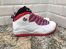Nike Air Jordan Retro 10 X Chicago Flag Mens Red White Blue SZ 15 310805-114