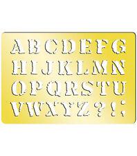 "Momenta Art-C Brass Template - Serif Upper Case 3.9""x2.6""  #711"