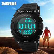 Montre Homme Sport SKMEI Multifonctions Podometre Led Etanche 50M Men Watch