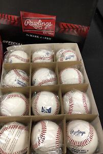 1 Dozen Official RAWLINGS MINOR LEAGUE Practice Baseballs - MiLB - NEW IN BOX
