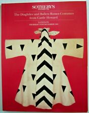 Sotheby London December 14 1995 Diaghilev Ballets Russes Costumes Castle Howard