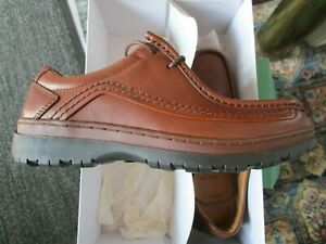 Mens, New, Leather, Moccasin Style, Clarks shoes size 7 in extra wide fitting