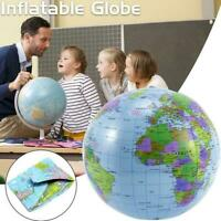 Inflatable World GLOBE Map Atlas Earth Learning Educational Toys Kids Ball I8S8