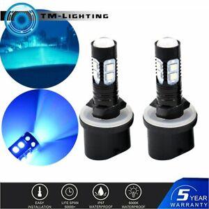 2x 890 880 892 893 899 50W 8000K ICE BLUE  LED Projector Fog Light Bulbs