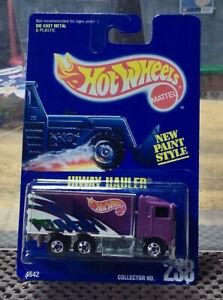 1991 Hot Wheels Highway Hauler Purple  NIB