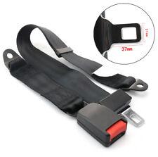 Universal 2-Punkt Auto Sicherheitsgurt Gurtpeitsche Beckengurt Haltegurt Schwarz