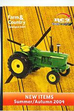 Britains & Ertl 2004 RC2 Farm & Country Distribuidor catálogo 4 páginas como nuevo