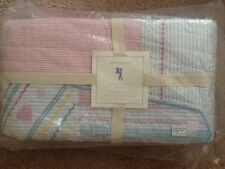 POTTERY BARN KIDS PACIFIC SURF  QUILT FULL/QUEEN PINK/BLUE NEW