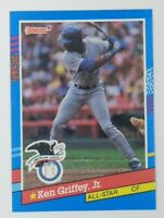 1991 Donruss All-Star Error Ken Griffey Jr #49, HOF, No Period After Inc