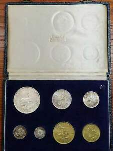 South Africa 1963 Proof Set in SAM Box(With Five Silver coins)
