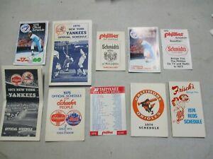 10 1970's MLB Baseball Schedules